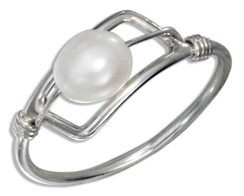 Freshwater Pearl Wire Ring