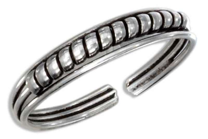 Wrapped Wire Thin Adjustable Band Toe Ring