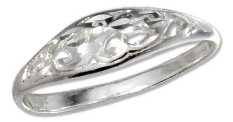 Open Scroll Dome Ring