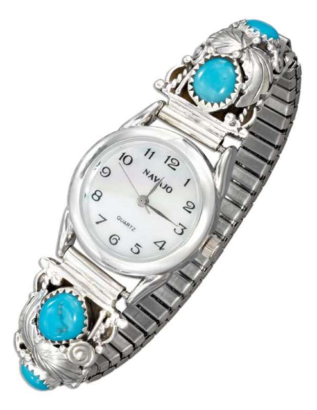Turquoise Stone Nugget Watch