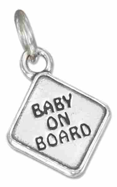 BABY ON BOARD Sign Charm