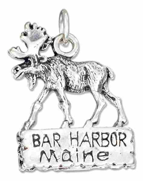 Bar Harbor Maine Moose Charm