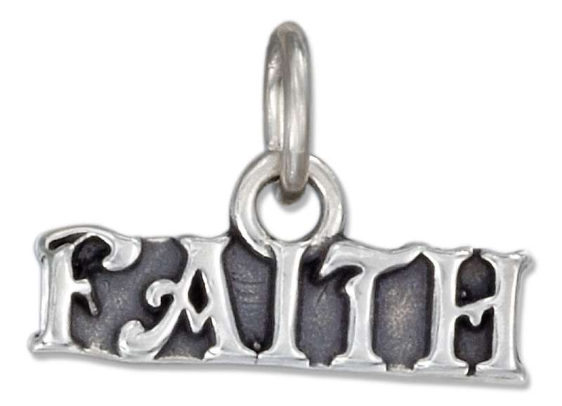 Faith Word Charm