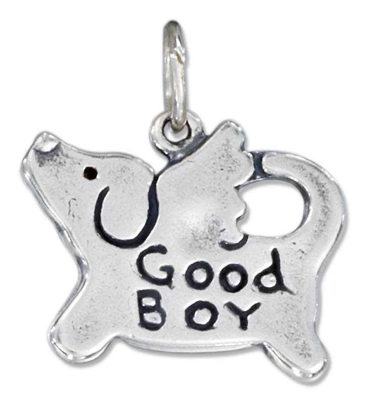 Angel Dog Good Boy Charm