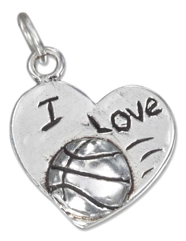 I LOVE BASKETBALL Word Charm