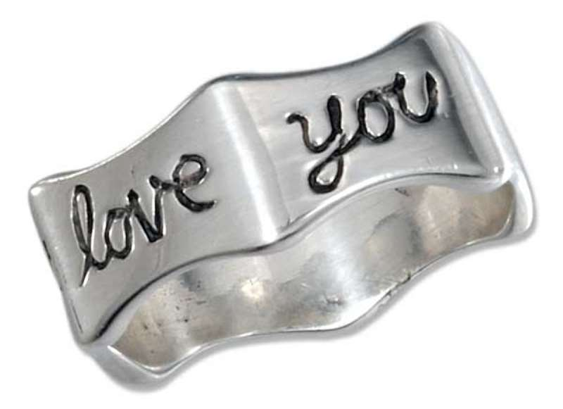 "Unisex ""I Will Always Love You"" Ring"