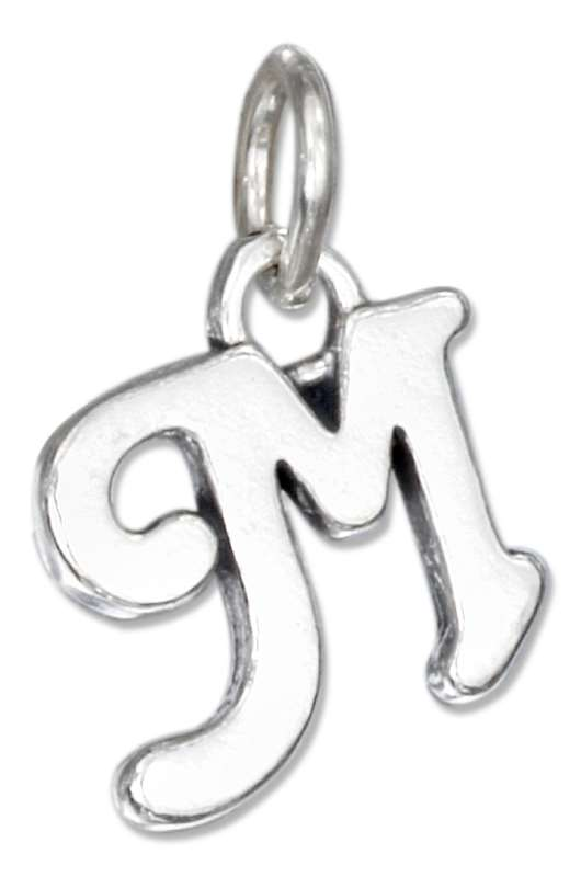 Scrolled Letter M Charm