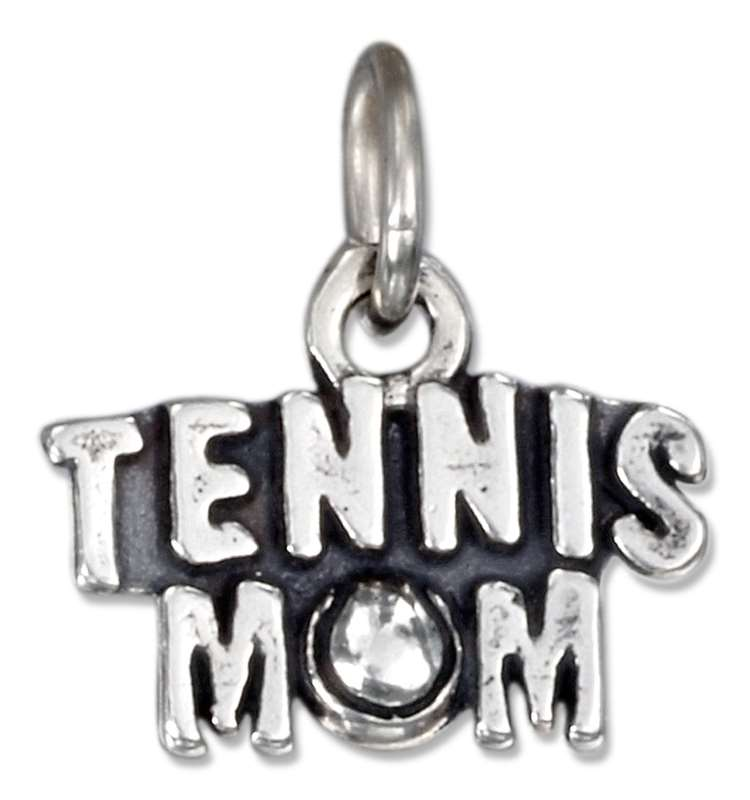 TENNIS MOM Word Charm