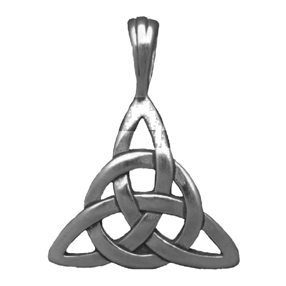 Celtic Circled Trinity Triquetra Knot Pendant