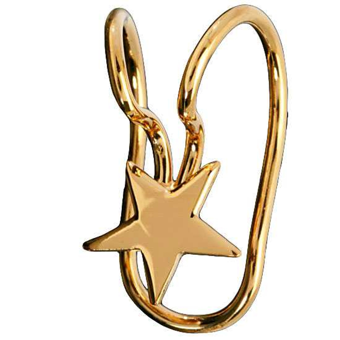14k Gold Vermeil Star Outer Upper Ear Ear Cuff