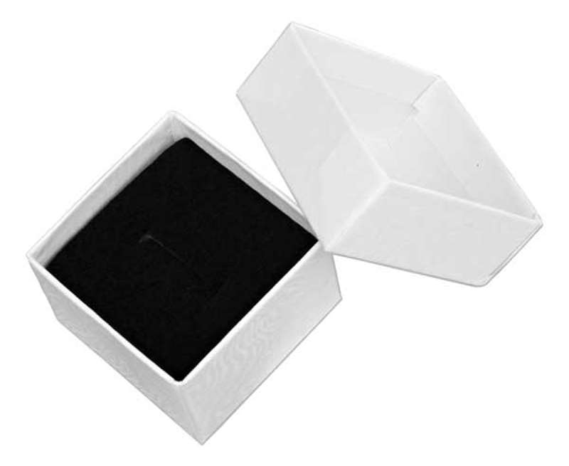 Small Square White Cardboard Ring Jewelry Gift Box