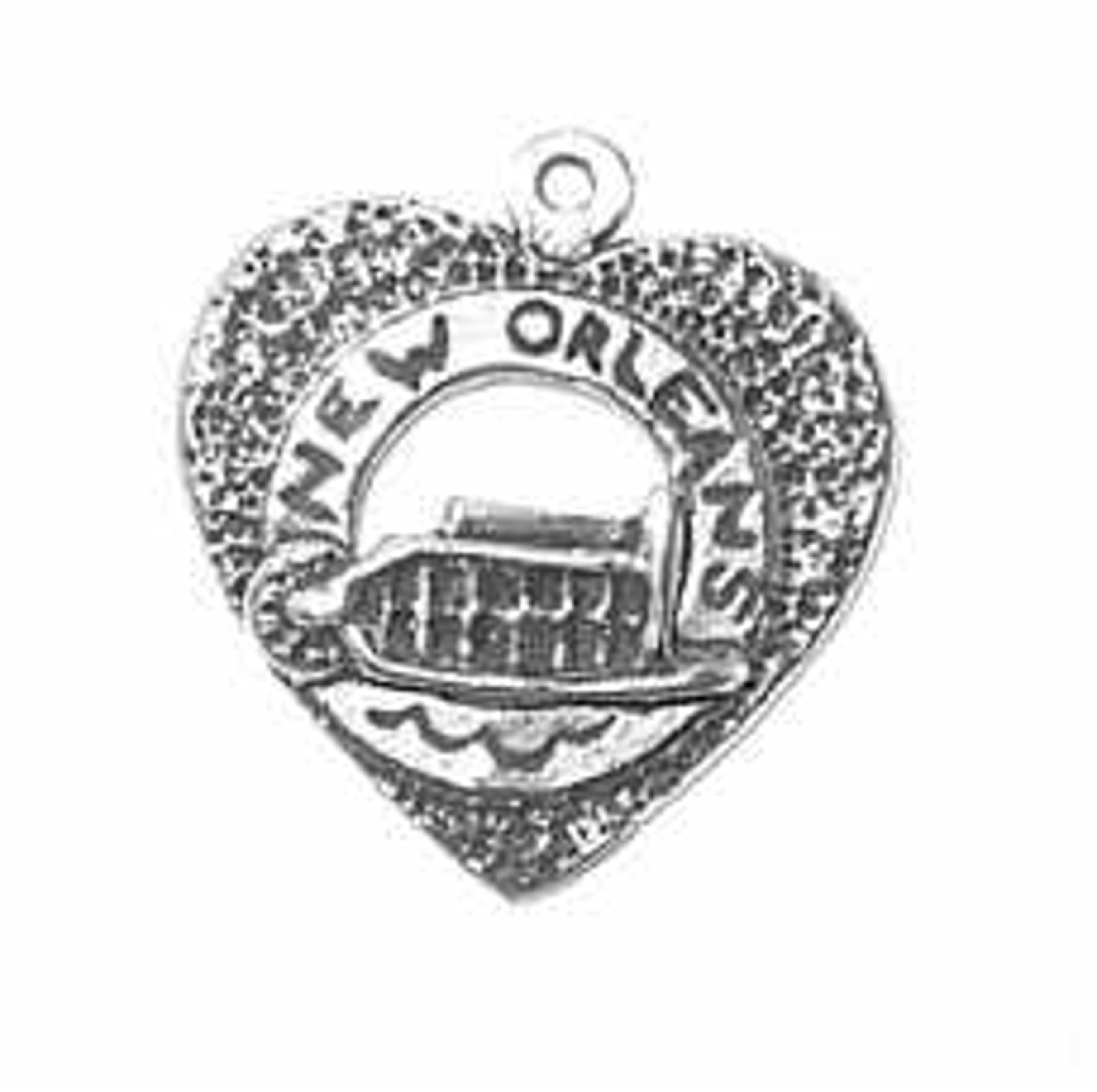 Heart With New Orleans Riverboat In Center Charm