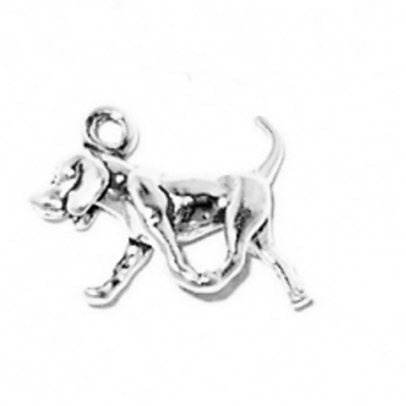 3D Small American Fox Hound Walking Dog Breed Charm