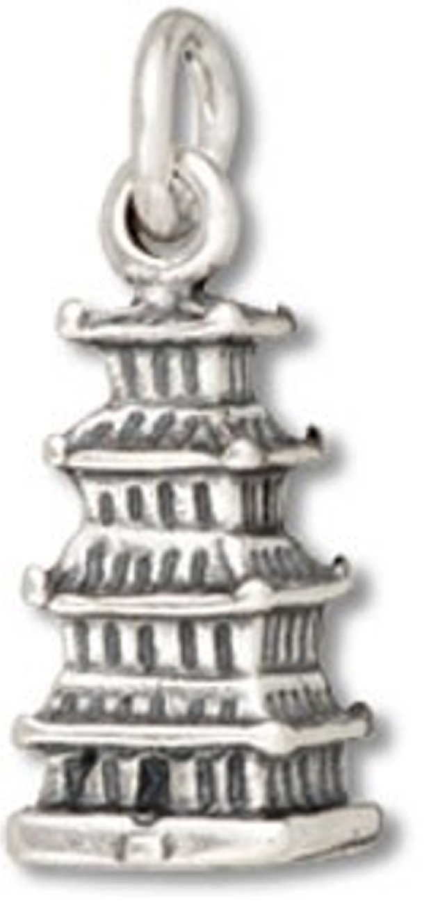 3D Chinese Japanese Buddhist Temple Pagoda Charm