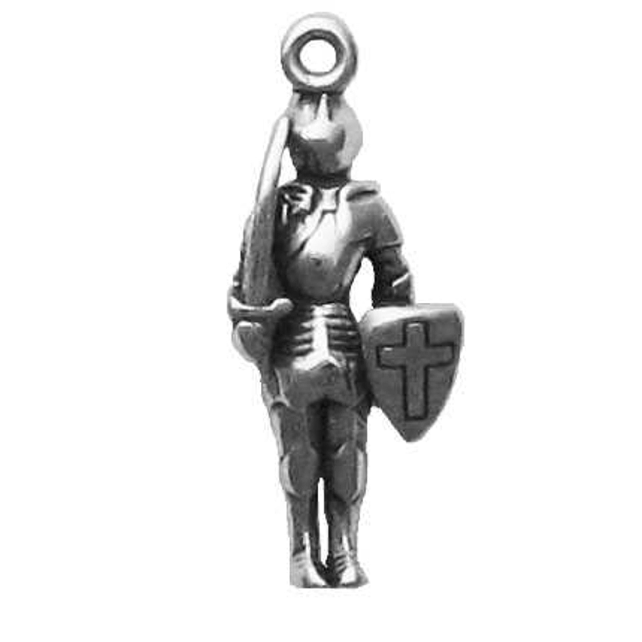 3D Knight-Errant Guard In Armor Charm
