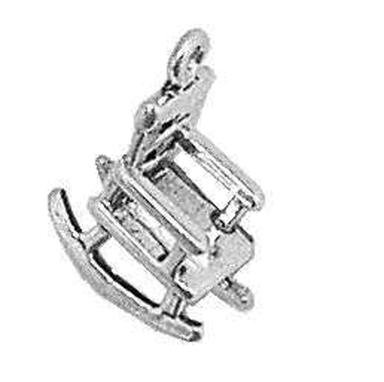 3D Wooden Rocking Chair Charm