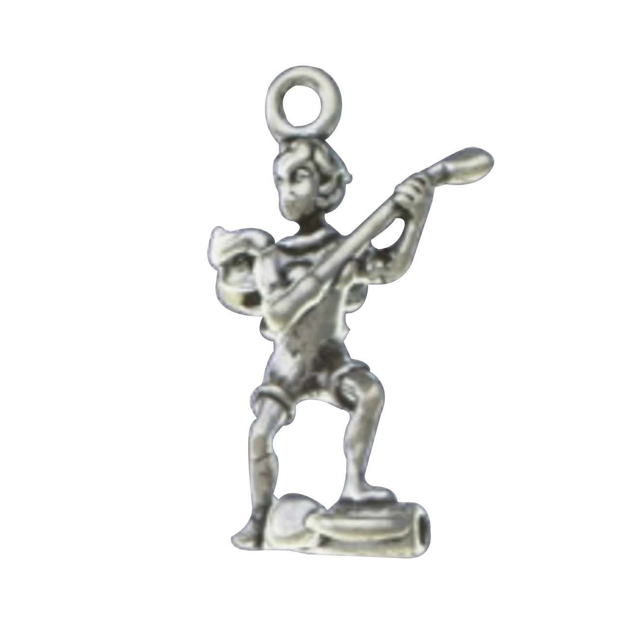 3D Angel With Wings Golfer Holding Golf Club Charm