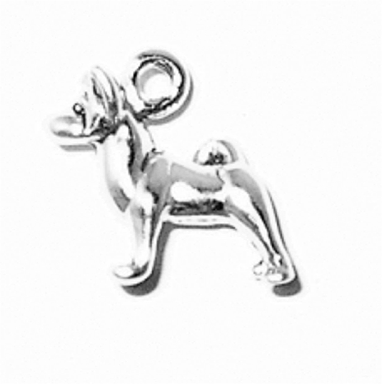 3D Small Standing Akita Dog Breed Charm