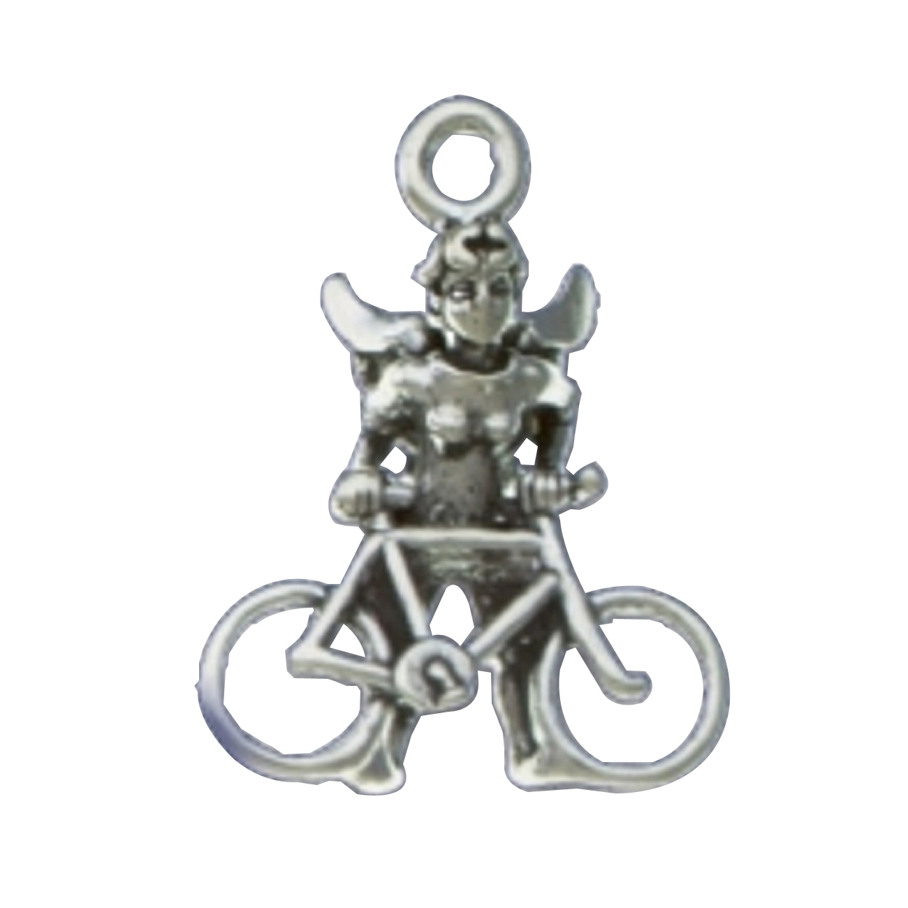 3D Angel With Wings Bike Rider Charm