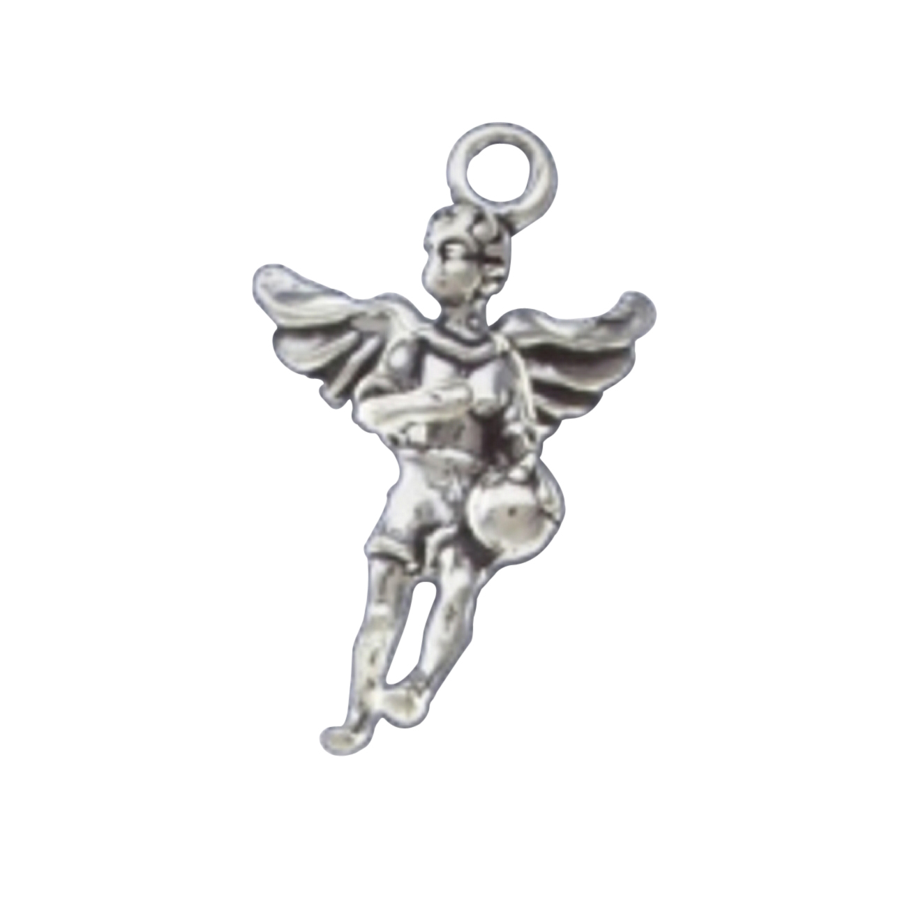 3D Angel With Wings Playing Basketball Charm