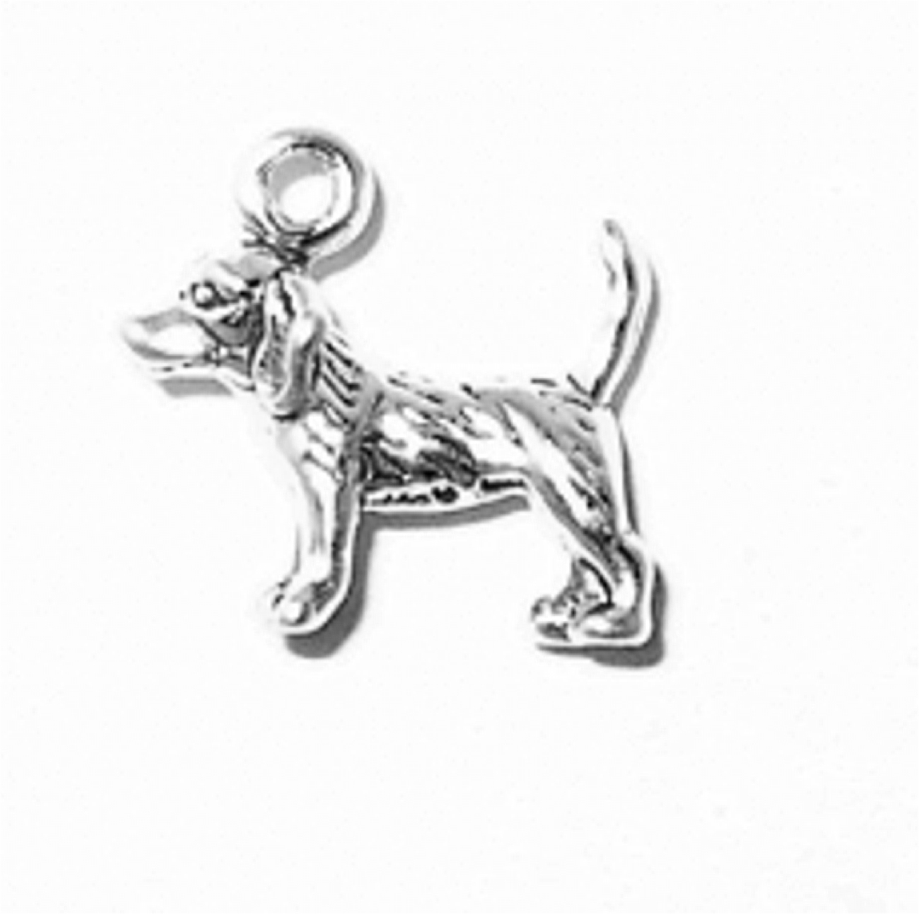 3D Small Beagle With Tail Up Dog Breed Charm