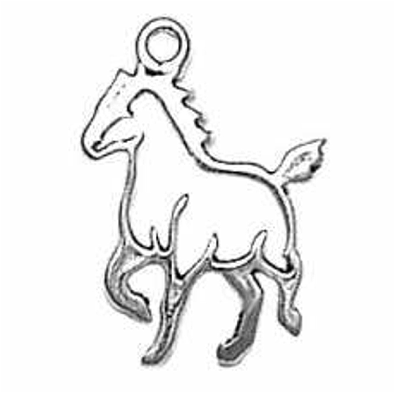Small Cutout Silhoutte Trotting Horse Charm