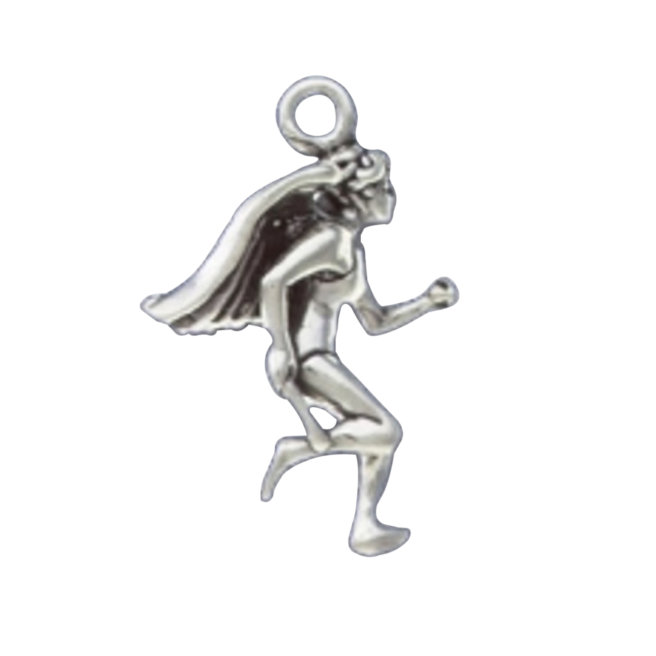 3D Female Runner Angel With Wings Charm