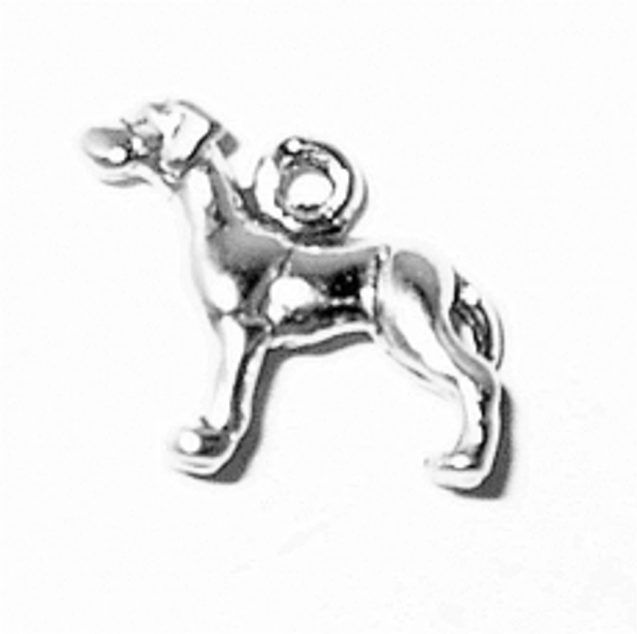 3D Small Great Dane With Tail Down Dog Breed Charm