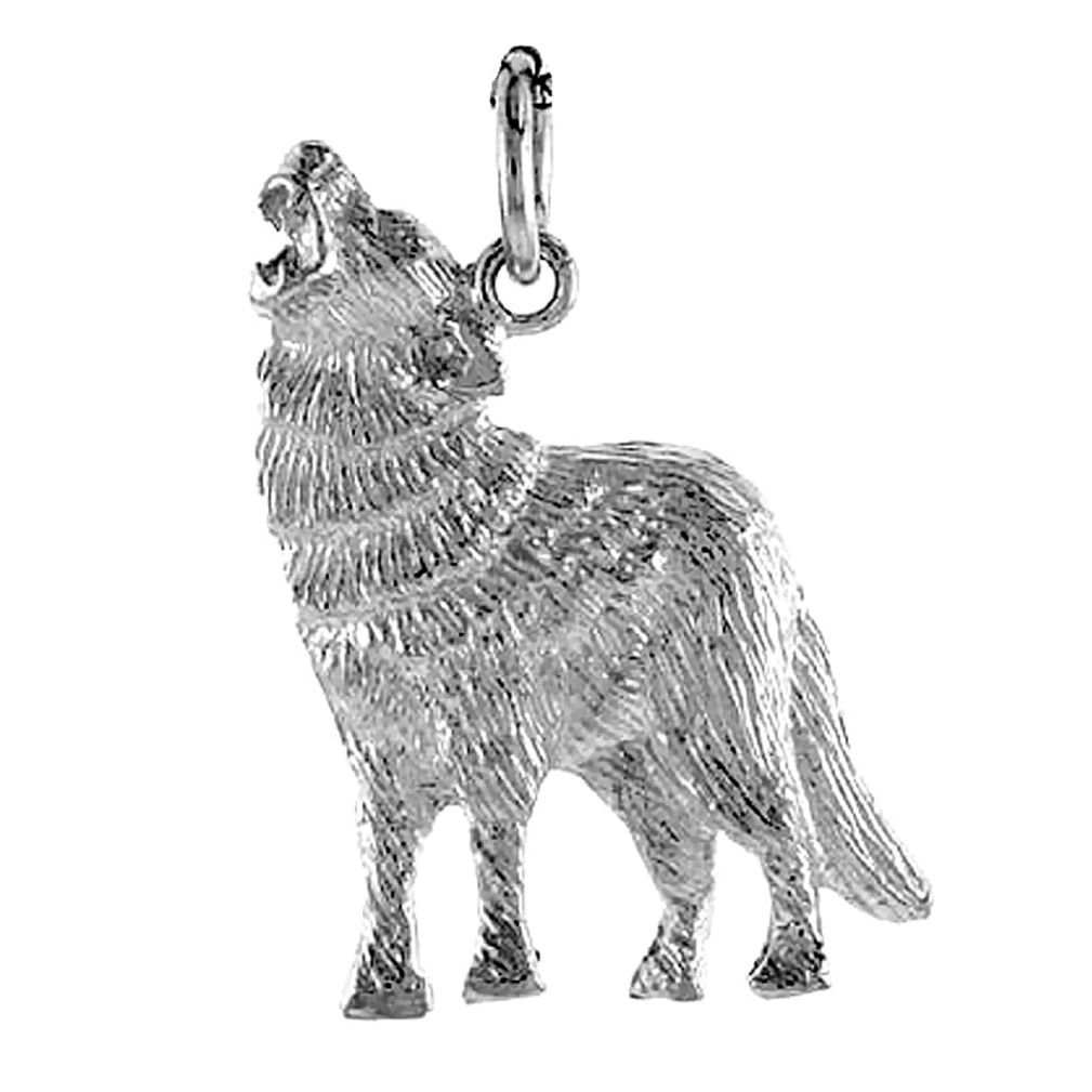 Howling Wolf Or Coyote Charm