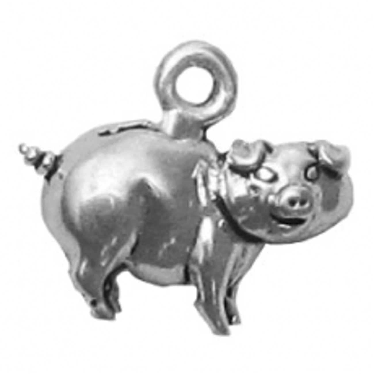 Mini Piggy Bank With Slot Charm