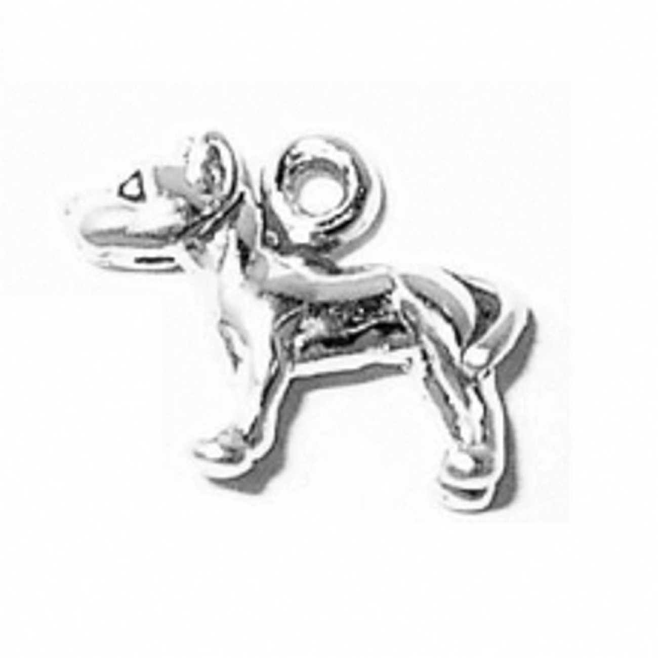 3D Standing Pitbull Dog Breed Charm