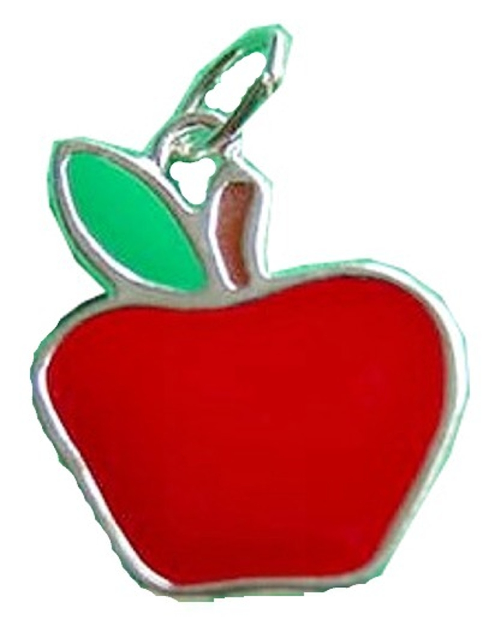 Enameled Flat Apple Charm