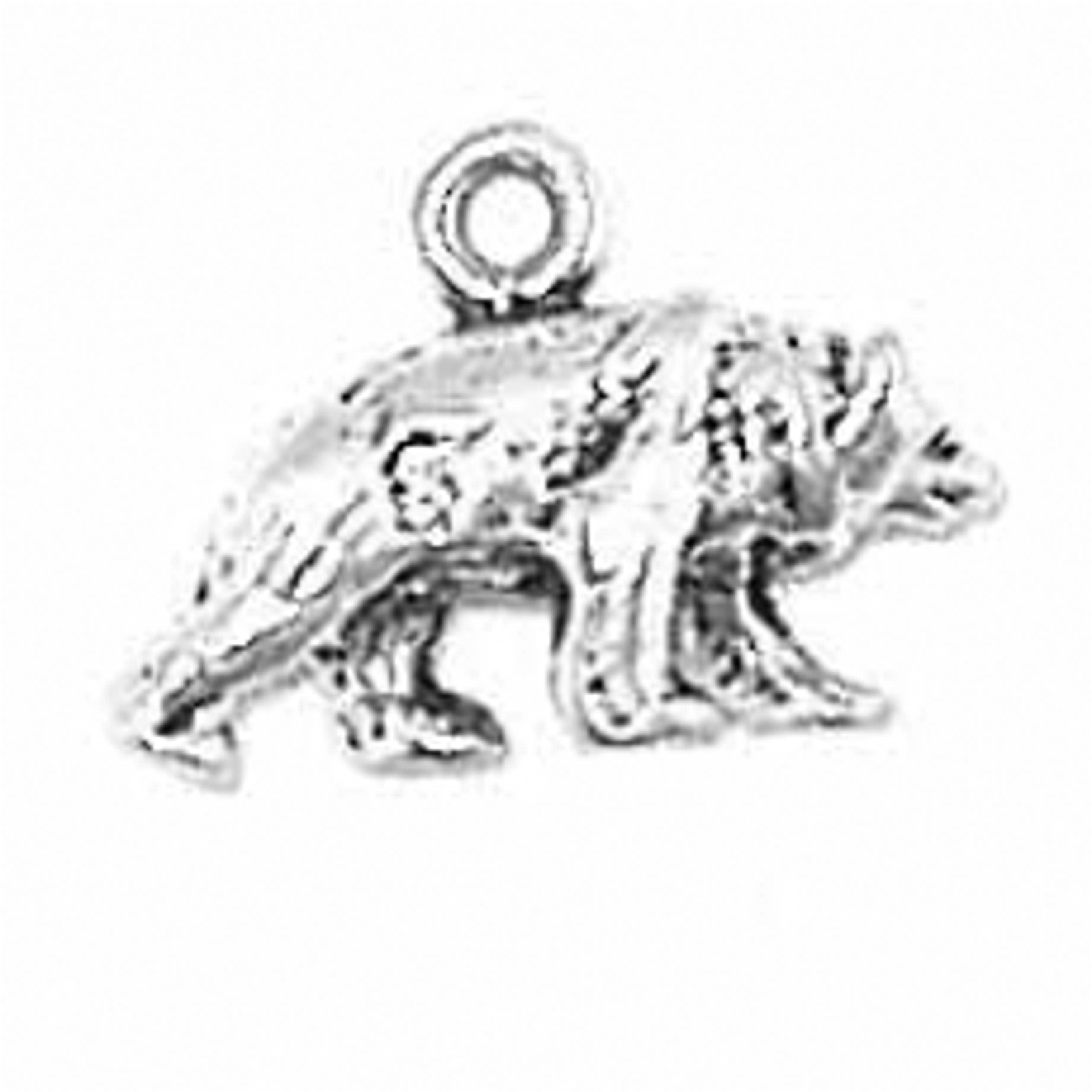 Small Walking Bear With Head Down 3D Charm
