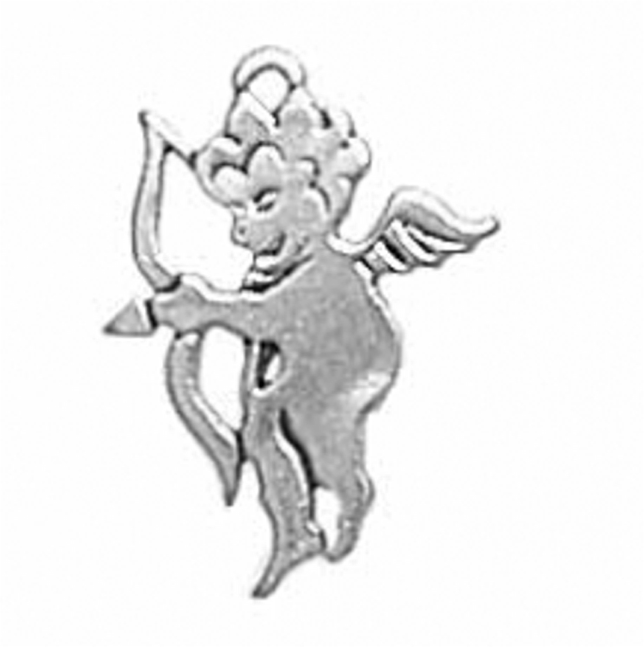 Smooth Flat Cupid Angel With Nocked Arrow 3D Charm