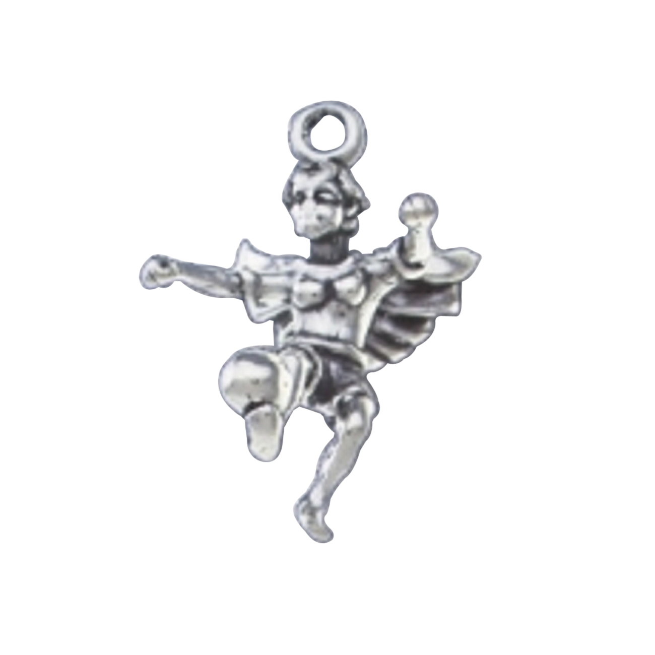 3D Angel With Wings Kicking Soccer Ball Charm