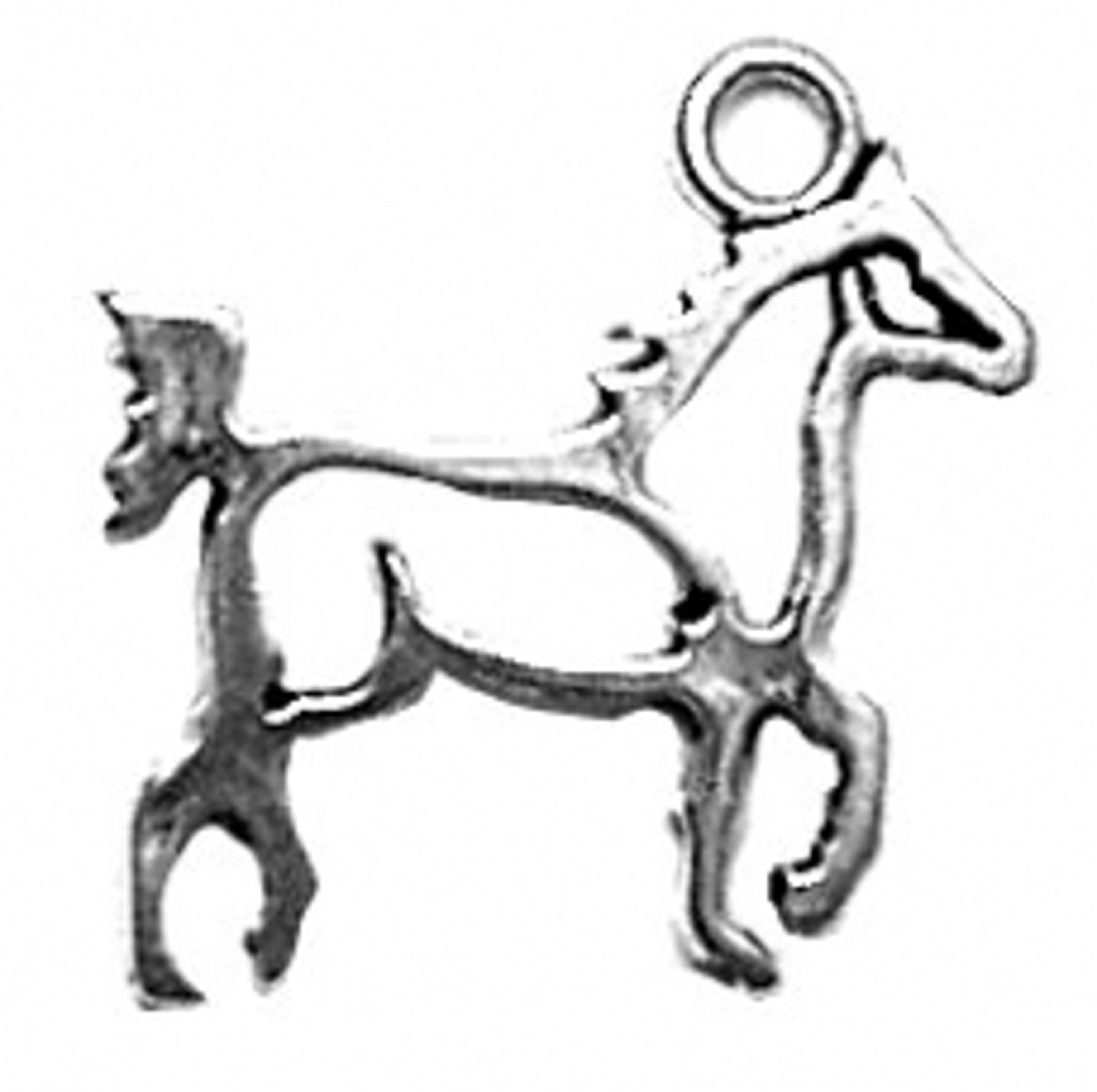 Small Cutout Silhoutte Walking Horse Charm