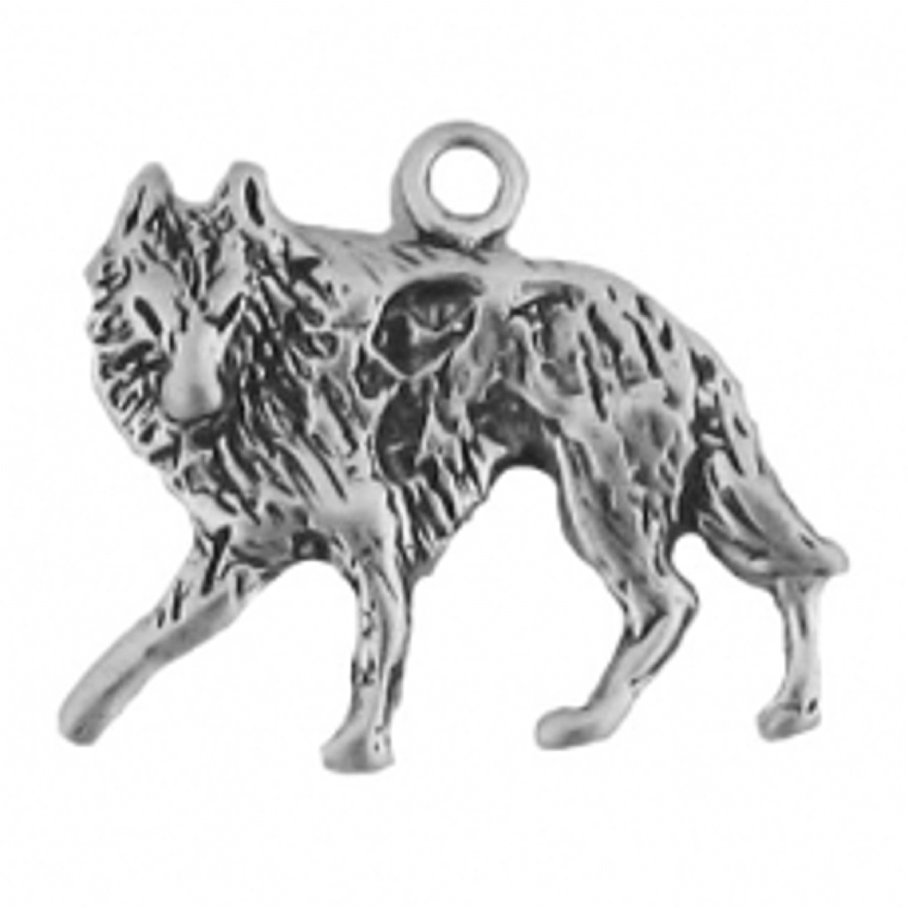 Wolf Facing Left On The Hunt Charm