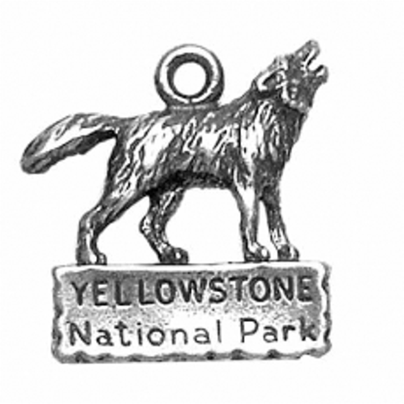 Howling Wolf Yellowstone National Park Charm