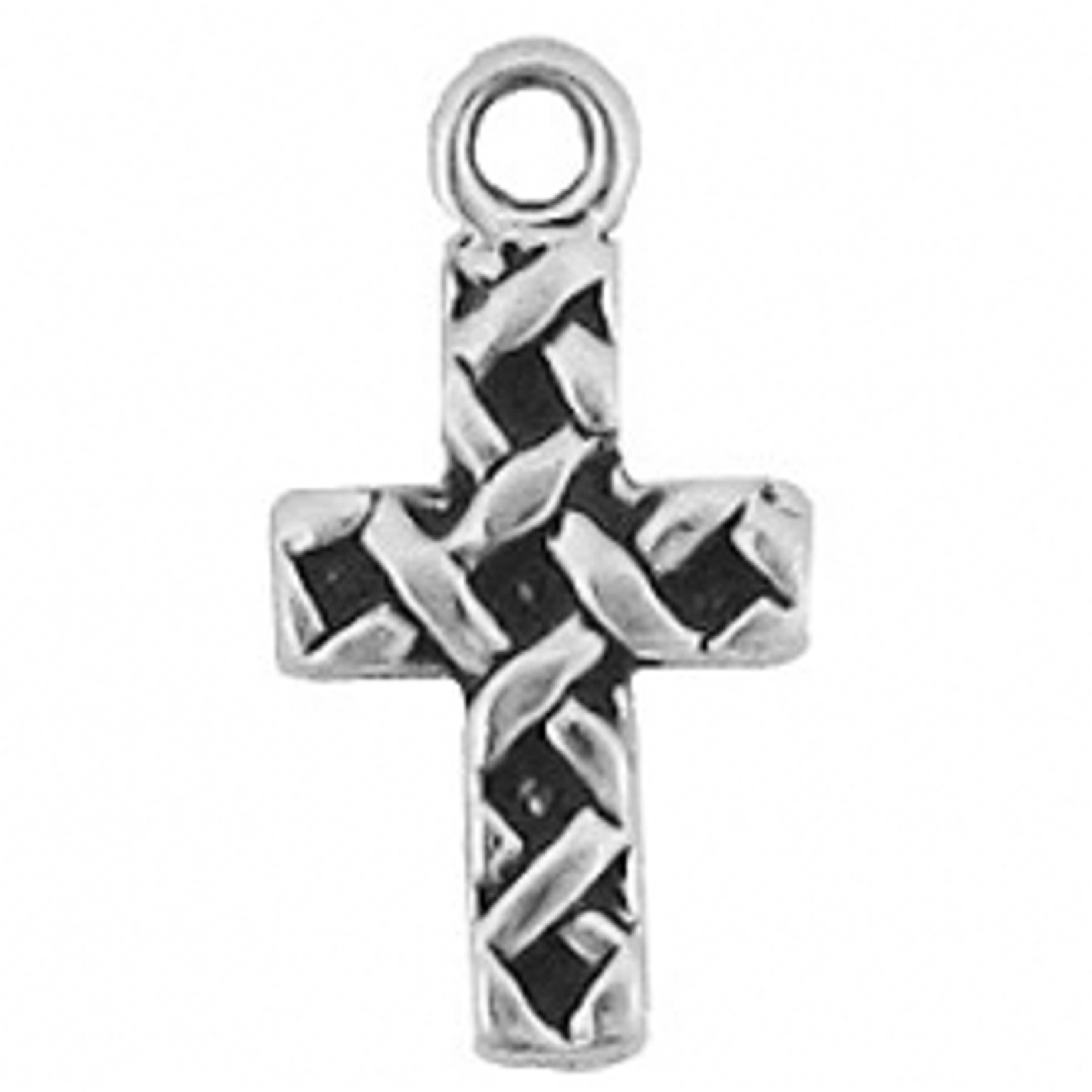 Mini Woven Religious Cross Charm