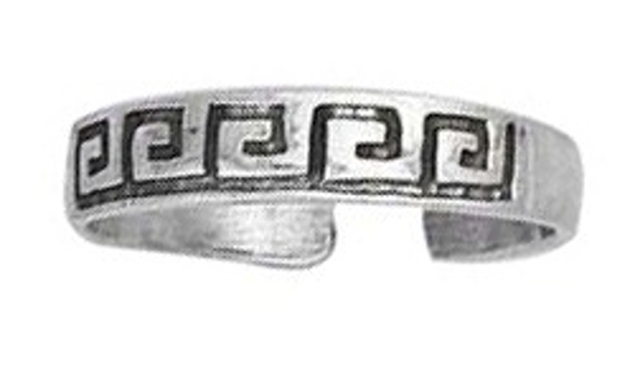 Greek Key Toe Ring