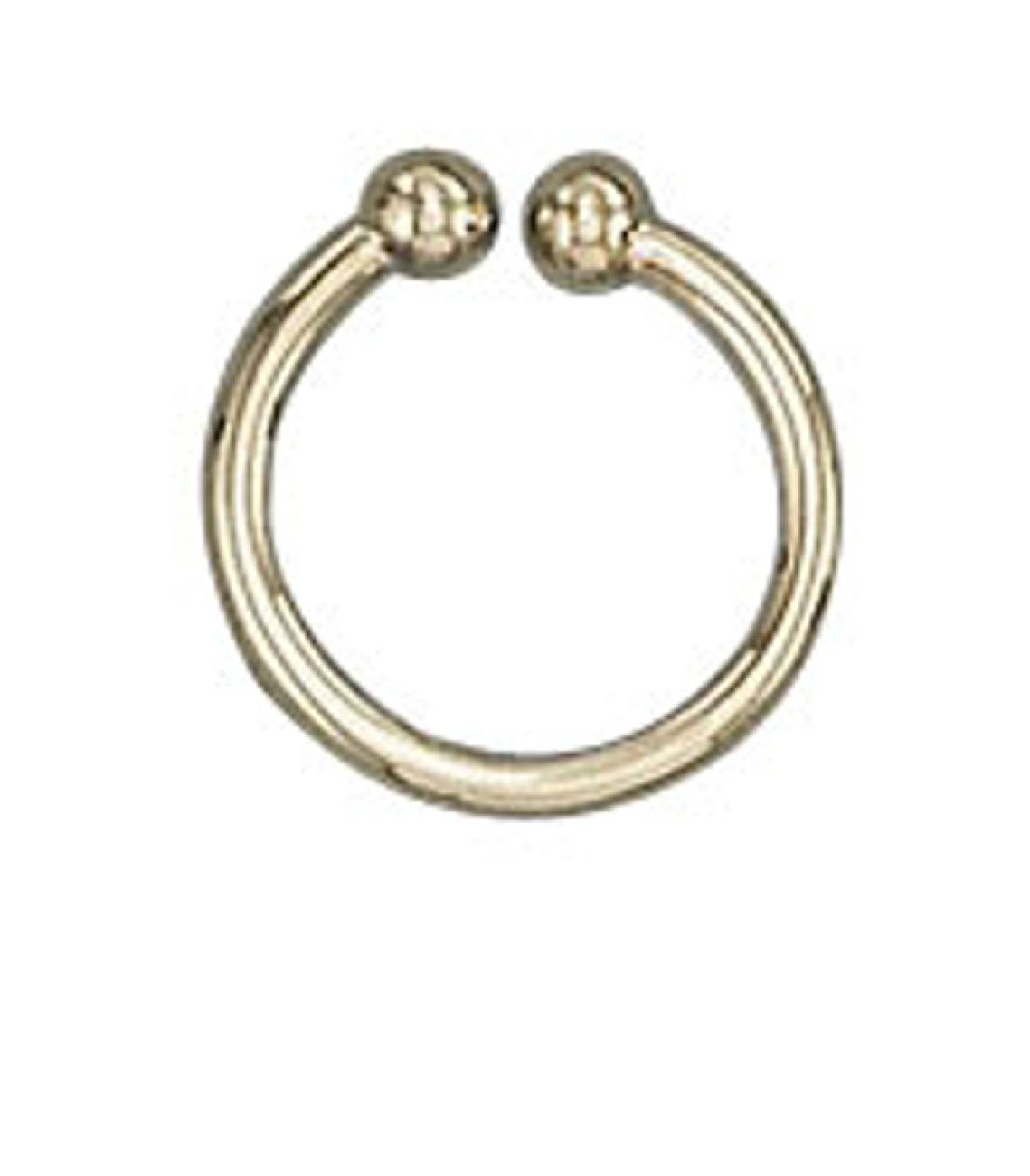 Vermeil Plain Round Wire Band Bali Middle Ear Cuff